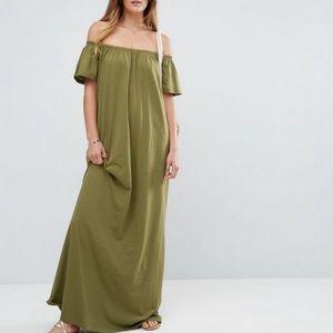 ASOS Off The Shoulder Maxi Dress